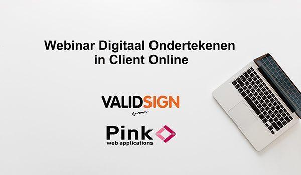 Webinar digitaal ondertekenen in client online logo